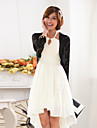 Wedding Wraps Long Sleeve Lace/Polyester Cut Out Casual/Party Boleros Black/White Bolero Shrug