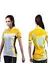 Maillot de Cyclisme Femme Manches courtes Velo Respirable Sechage rapide Resistant aux ultraviolets Permeabilite a l\'humidite Antistatique