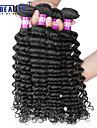 """4 st / lot 8 """"-30"""" 7a brasilianska jungfru hår vinkar djupt mänskliga hårwefts 100% obearbetat brasilianska remy hår väver"""