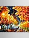 oljemålning dekoration abstrakt nattplats handen målade med sträckta inramade