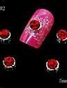 10 - Bijoux pour ongles/Autre decorations - Doigt/Orteil/Autre - en Bande dessinee/Fruit/Fleur/Abstrait/Adorable/Punk/Mariage - 6*5*1