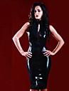 Cosplay Kostymer/Dräkter Uniformer Festival/högtid Halloweenkostymer svart Klänning Halloween Karnival Kvinna Polyuretan Läder