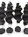 3st / lot 10 \'\' - 28 \'\' 5a brasilianskt jungfruligt remy hårförlängningar naturligt svart lös våg lockigt obearbetad rå väva