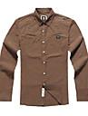 Men\'s Cotton Pure Long Sleeve Regular Fit Casual Shirt