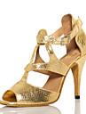 Chaussures de danse (Or) - Non personnalisable - Talon aiguille - Flocage - Salsa