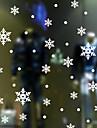 vägg dekaler vägg dekaler stil jul snöflinga pvc väggdekorationer
