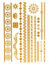Tatueringsklistermärken - Mönster/Waterproof - Smyckeserier - till Dam/Herr/Vuxen/Tonåring - Guld/Multifärgad/Silver - Papper - 4 - styck