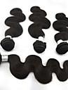 3pcs / lot 10 \'\' - 28 \'\' 5A extensions de cheveux de remy bresilienne vierge naturelle vague de corps noirs boucles armure non transforme