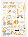 4 Tatueringsklistermärken Smyckeserier Mönster VattentätDam Herr Vuxen Tonåring Blixttatuering tillfälliga tatueringar