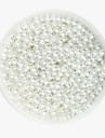 beadia 58 g (aprox 2000pcs) 4mm rotunde margele abs perla culoare alb margele din plastic