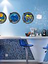 3 pieces de poissons oceaniques de stickers muraux sticker mural fenetre de paysages de pvc