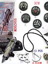 Bijoux / Badge Inspire par Assassin\'s Creed Ezio Anime/Jeux Video Accessoires de Cosplay Colliers / Gantelets / Badge / Broche Noir