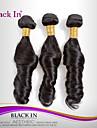 """3 st mycket 12 """"-30"""" brasiliansk ocean våg jungfru hårwefts naturligt svart människohår väver trasselfri"""