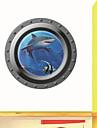 väggdekorationer väggdekaler, 3d hav haj fönster pvc vägg klistermärke