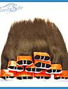 Mänskligt hår - Brun - HÅRFÖRLÄNGNING - till Dam - Rak