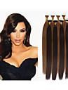 """Människohår förlängningar Mänskligt hår 100 18""""30"""" Hårförlängning"""
