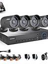 annke 4ch ahd 720p DVR / HVR / NVR +4 720p 1.0mp ahd IP-kamera 100ft mörkerseende väder säkerhetssystem