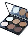 6 Poudre Sec Mat Lueur Poudre Couverture Blanchiment Longue Duree Correcteur Naturel Reserrement des Pores Anti-Acne Visage Multicolore