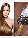"""18 """"-28"""" mikro ringen hår / slinga hårförlängning virgin hår keratin fusion kapsel hår 300g / lot 1g / s 100g / st i lager"""