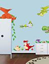 vägg dekaler vägg dekaler stil ny dinosaurie zoo pvc väggdekorationer