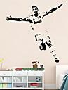 stickers muraux mur de football de style Stickers muraux personnalites sportives de PVC autocollants