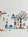 vägg klistermärken väggdekaler, stora djur apor träd pvc vägg klistermärke