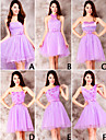 Mix & Match Dresses Short/Mini Tulle and Lace 6 Styles Bridesmaid Dresses (3789963)