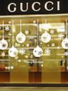 väggdekorationer väggdekaler stil snöflingor ljus pvc väggdekorationer