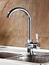 charmingwater däck monterat enda handtag ett hål med krom köksblandare