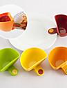 uppsättning av 4 mini clip-on krydda container ställa vinäger sås skål kök (slumpvis färg)