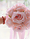 """Flori de Nuntă Rotund Trandafiri Buchete Nuntă Poliester Satin Spumă 6.3""""(Approx.16cm)"""