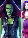 cosplay peruk nya väktare galaxen gamora peruk syntetiska långa vågiga lutning kostym peruker