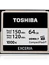 Toshiba exceria 64GB 1000x Compactflash-minneskort UDMA 7 läs 150MB / s skriv 120MB / s