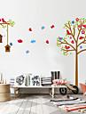 väggdekorationer väggdekaler stil tecknad träd fågelbo pvc vägg klistermärken