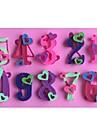numeros cardiaques 0-9 en forme de gateau fondant moule en silicone de chocolat moule, des outils de decoration ustensiles de cuisson