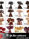 neitsi 20 pouces 1g / s 50g keratine fusion pointe u des ongles colores droite extensions de cheveux humains