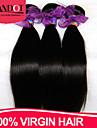 """3 st mycket 8 """"-28"""" vietnamesiska jungfru hår raka naturligt svart människohår väva buntar härva gratis alkoholfria hårförlängningar"""