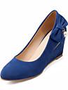 Women\'s Shoes  Wedge Heel Heels/Round Toe Pumps/Heels Dress Black/Blue/Red/Beige
