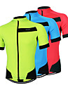Arsuxeo Maillot de Cyclisme Homme Manches courtes Velo MaillotSechage rapide Design Anatomique Zip frontal Respirable Materiaux Legers