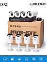 cotier® poe 8ch NVR kit systemet 720p nätverk / IR / hd / ip kamera n8b3 / kit-poe