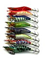 Fluorescent Shrimp Wood Baits Fishing Lures 8pcs/Set 100mm 10.8g