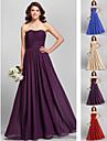 Vestido de Dama de Honor - Rojo/Uva/Azul Real/Champana Corte Recto Strapless - Hasta el Suelo Gasa Tallas grandes