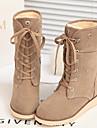 Chaussures Femme - Exterieure / Decontracte - Noir / Rouge / Beige / Orange / Kaki - Talon Compense - Confort / Bout Ferme - Bottes -
