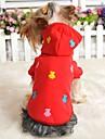 Katter / Hundar Kappor / Huvtröjor / T-shirt Röd / Blå / Gul / Grå Hundkläder Vinter Tecknat Bröllop / Cosplay