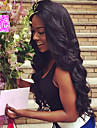 "8""-26"" Peruvian Virgin Hair Body Wave Glueless Lace Wig Lace Front Wig Color Natural Black Baby Hair for Black Women"