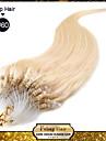 "20 ""blond blanc (# 60) 100s micro boucle extensions de cheveux humains"