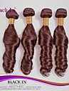 4pcs 100% bresilien de l\'ocean de cheveux vierges vague extensions de cheveux humains cheveux brun chocolat tisse extensions de cheveux