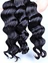 6a obearbetade peruanska virgin hår lös våg 3st lot mänskliga hårförlängningar naturligt svart hår väver