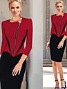 Robes ( Coton melange ) Vintage/Bodycon/Informel/Soiree/Travail Manche 3/4 pour Femme