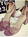 Women\'s Shoes Chunky Heel Open Toe Sandals Casual Pink/Silver/Gray